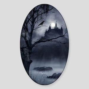 Gothic Night Fantasy Sticker (Oval)