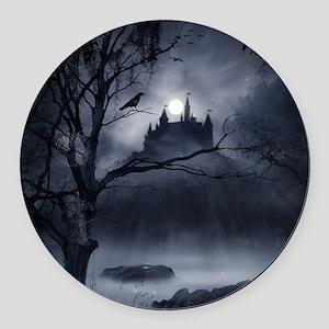 Gothic Night Fantasy Round Car Magnet