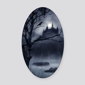 Gothic Night Fantasy Oval Car Magnet