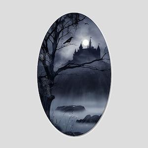 Gothic Night Fantasy 20x12 Oval Wall Decal