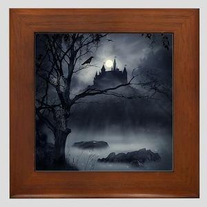 Gothic Night Fantasy Framed Tile