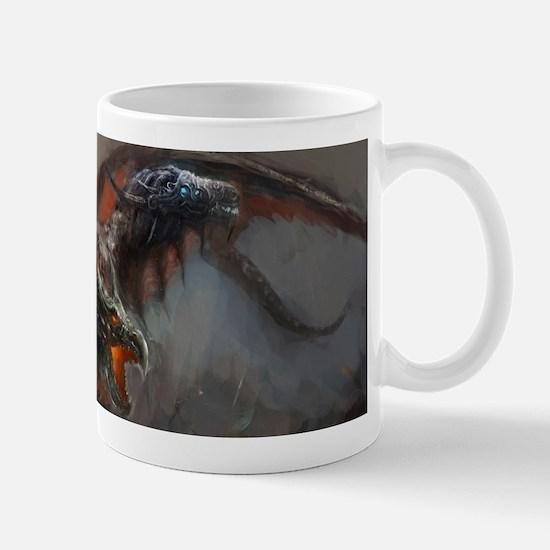 Gothic Triple-Head Dragon Mug