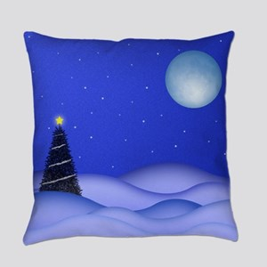 Christmas Blue Moon Everyday Pillow