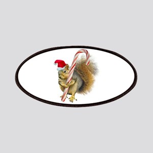 Squirrel Candy Cane Patch