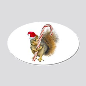 Squirrel Candy Cane Wall Decal