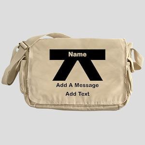 Black Belt Messenger Bag