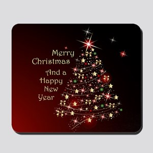 Christmas Tree And Wishes Mousepad