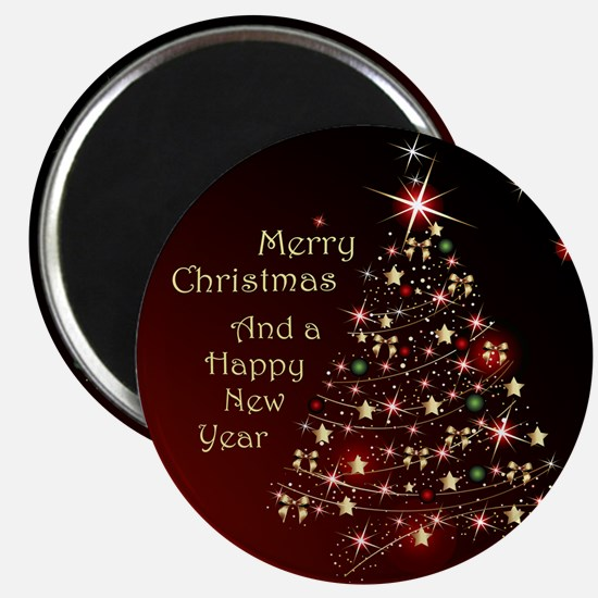 Christmas Tree And Wishes Magnets