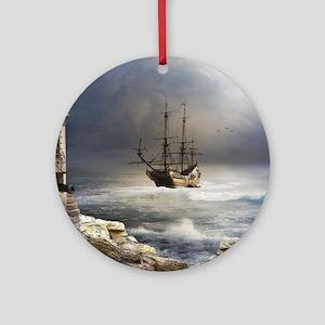 Pirate Bay Round Ornament