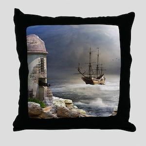Pirate Bay Throw Pillow