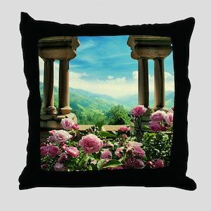 Neuschwanstein View Throw Pillow
