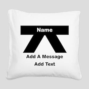 Black Belt Square Canvas Pillow