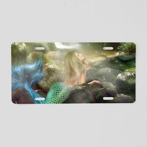 Mermaid Cave Aluminum License Plate
