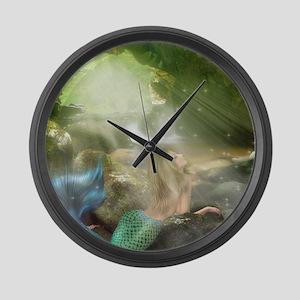 Mermaid Cave Large Wall Clock