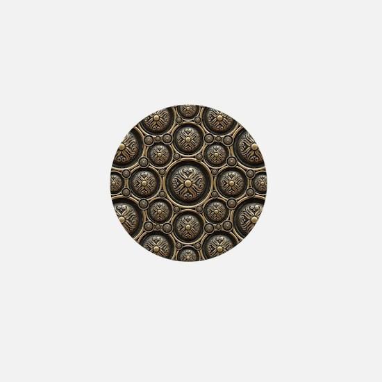 Antique Armor Pattern Mini Button