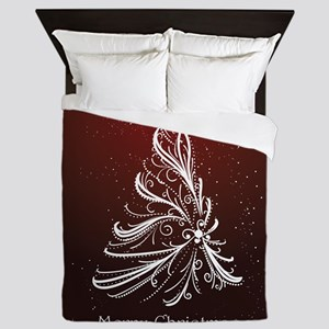 Christmas Tree And Wishes Queen Duvet