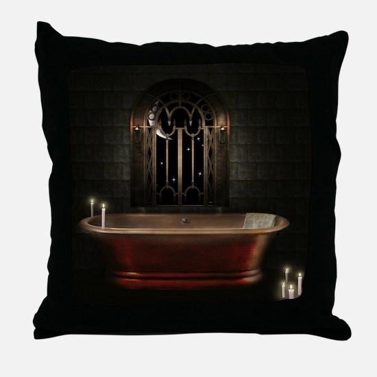 Gothic Bathtub Throw Pillow