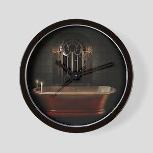 Gothic Bathtub Wall Clock
