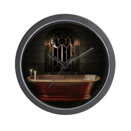 Gothic Bathtub Wall Clock