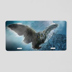 Gothic Owl Aluminum License Plate