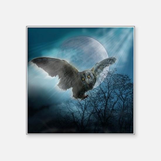 "Gothic Owl Square Sticker 3"" x 3"""