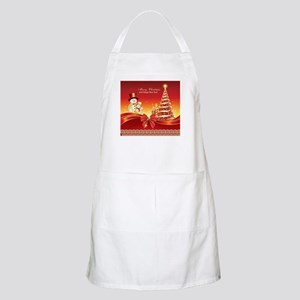 Christmas Wishes,Snowman And Candle Apron