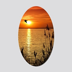 Golden Zen Sunset 20x12 Oval Wall Decal