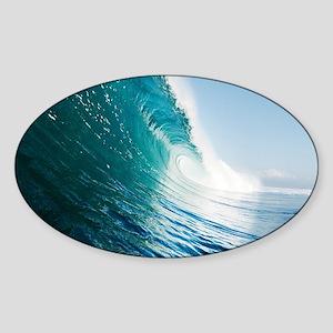 Breaking Wave Sticker (Oval)