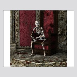 Gothic Waiting Skeleton Small Poster