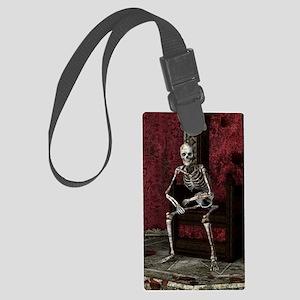 Gothic Waiting Skeleton Large Luggage Tag