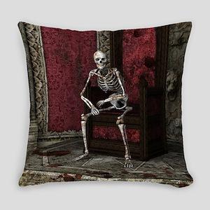 Gothic Waiting Skeleton Everyday Pillow
