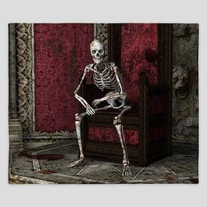 Gothic Waiting Skeleton King Duvet