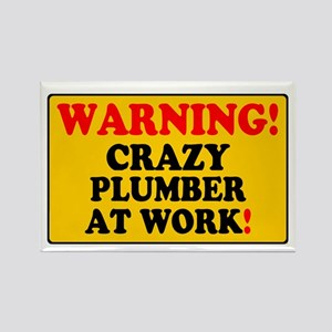 YELLOW SIGN - WARNING - CRAZY PLU Magnets