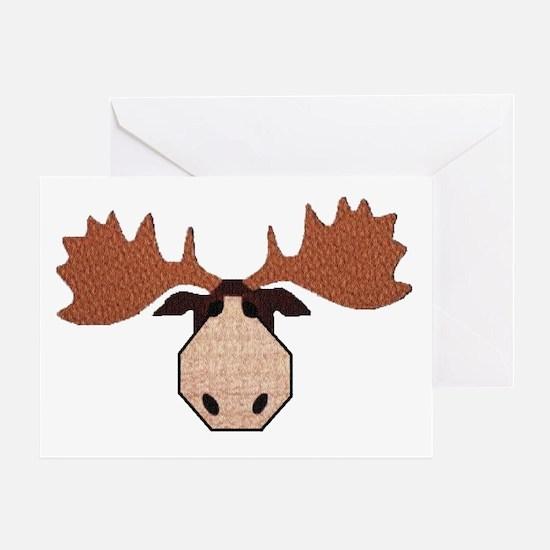 Moose Head Greeting Card