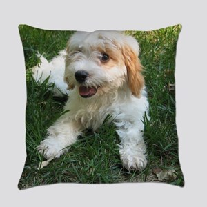 CUTE CAVAPOO PUPPY Everyday Pillow
