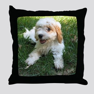 CUTE CAVAPOO PUPPY Throw Pillow