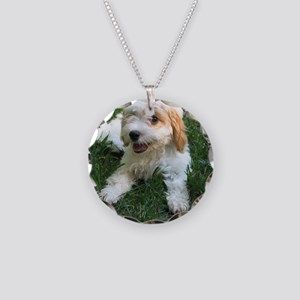CUTE CAVAPOO PUPPY Necklace Circle Charm