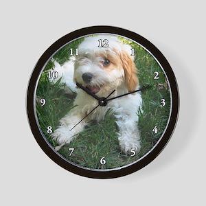 CUTE CAVAPOO PUPPY Wall Clock