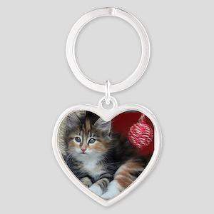 COMFY KITTY Heart Keychain