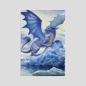 Ice Dragon Rectangle Magnet