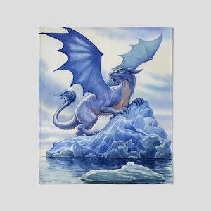 Ice Dragon Throw Blanket