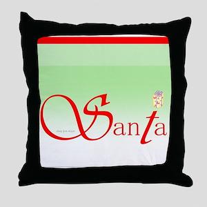 Santa Wisdom Throw Pillow