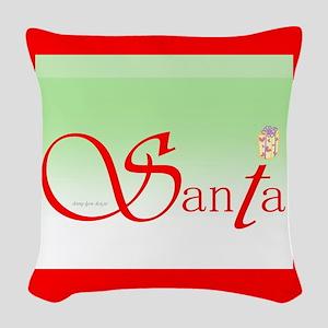 Santa Wisdom Woven Throw Pillow