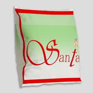 Santa Wisdom Burlap Throw Pillow