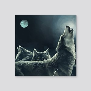 "Winter Wolves Square Sticker 3"" x 3"""