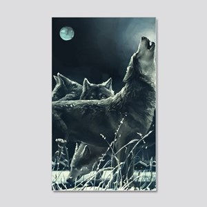 Winter Wolves 20x12 Wall Decal