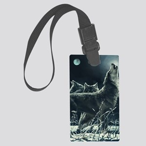 Winter Wolves Large Luggage Tag