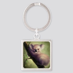 Cute Koala Bear Square Keychain