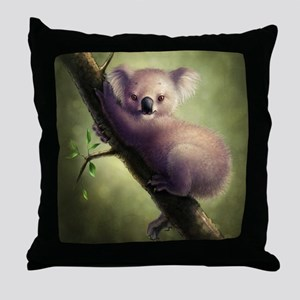 Cute Koala Bear Throw Pillow