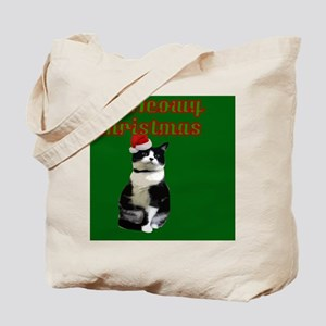 Kitty Cat Meowy Christmas Tote Bag